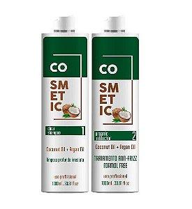 Progressiva De Coco COSMETIC LINE  0% Formol, Não Arde, Sem cheiro forte 1 LITRO