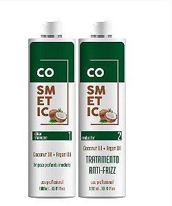 Progressiva De Coco COSMETIC LINE  Cabelo Liso, Hidratado E Fortalecido 1 LITRO