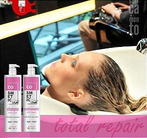 Shampoo e condicionador Reparação Total de litro Cosmetic Professional 1000 ml