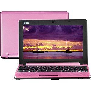"Netbook Philco 10C-R123LM com Intel Atom Dual Core 2GB 320GB LED 10""  Rosa"