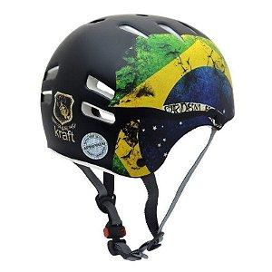 Capacete Kraft Bike - Bandeira Brasil