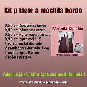 Kit mochila Rip Chic bordo