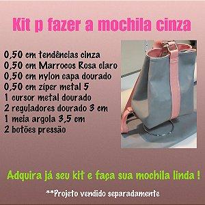 Kit de materiais para confecção da mochila(não acompanha projeto)