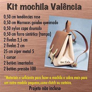 Kit mochila Valência rose