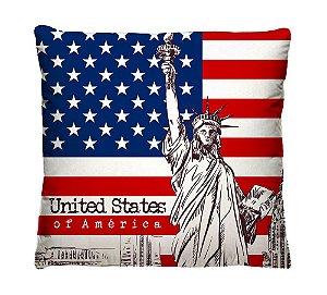 Capa de Almofada Bandeira Inglesa, Americana, Italiana, Francesa