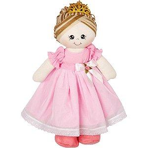 Boneca Princesa Bela em Tecido