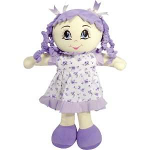 Boneca Gaby de Pelúcia em Tecido - Boneca de Pano