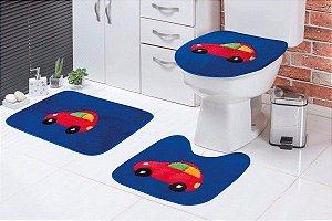 Jogo de Banheiro Infantil Carro 3 peças