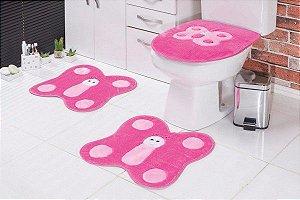 Jogo de Banheiro Infantil Borboleta