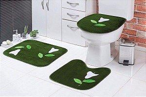 Jogo de Banheiro Infantil Verde