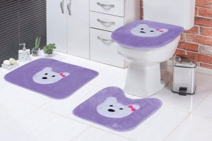 Jogo de Banheiro Lilás
