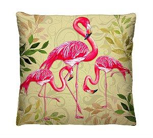 Capa para Almofada Decorativa Flamingo Rosa