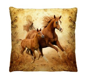 Almofada Decorativa Cavalos
