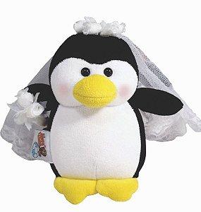 Casal de Pinguins Noivos