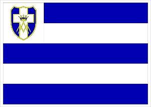 Bandeira da Congregação com Roseta personalizada