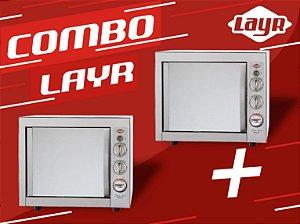 Forno Elétrico Super Luxo Inox Advanced 2.4  + Forno Elétrico Super Luxo Inox Advanced 2.4