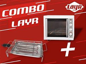 Forno Elétrico Luxo Clean Advanced 2.4  + Churrasqueira Elétrica Diet