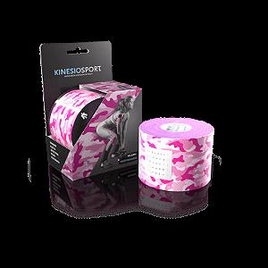 Bandagem Elástica Kinesiosport Camuflada Rosa