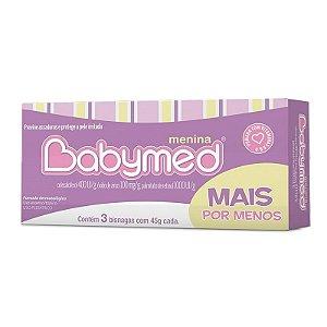 Kit Pomada para Prevenção de Assaduras Babymed Rosa 3 unidades 45g