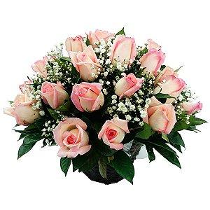 Arranjo de Rosas 12 Cor de Rosas