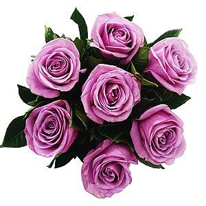 Buquê de Rosas Lilás - 6 Unidades