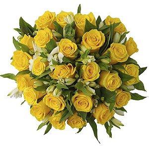 Buquê Especial Rosas Amarelas - 24 Unidades