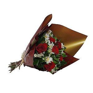 Buquê Especial 6 Rosas Vermelhas