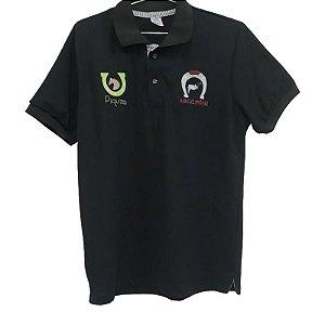 Camisa Polo Masculina com logo Pônei e Piquira