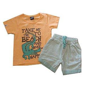 Conjunto JACARÉ T-Shirt e Short Tecido Bugbee