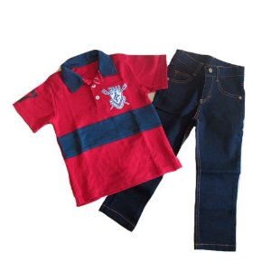 Conj Pólo e Calça Jeans Pupi