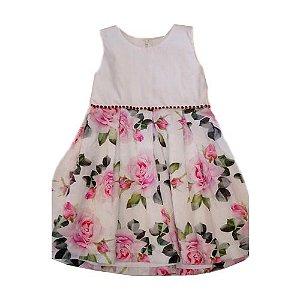 Vestido Floral em Organza Pupi