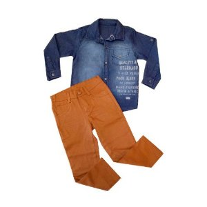 Conjunto Stillo Jeans M/L e Calça Caramelo Pupi