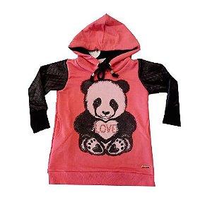 Vestido Panda Manga Longa Bugbee