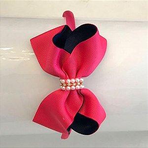 Tiara Laço Pink/Marinho