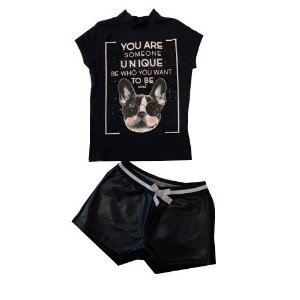 Conjunto Blusa Dog/Short