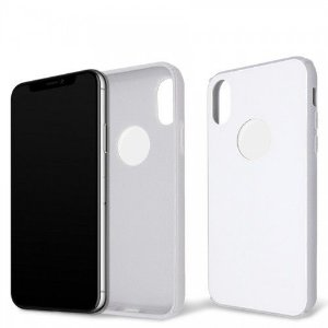Capa Antichoque Glass Case White para iPhone X e Xs