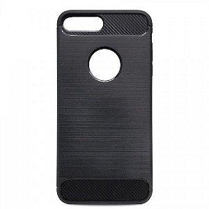 Capa Carbon Fiber para iPhone 7 Plus/ 8 Plus Preta