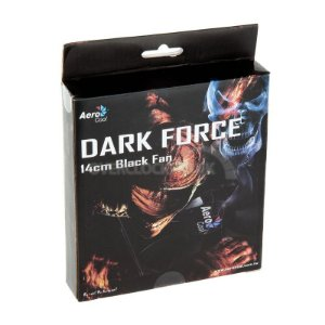 Dark force fan 14 cm black fan