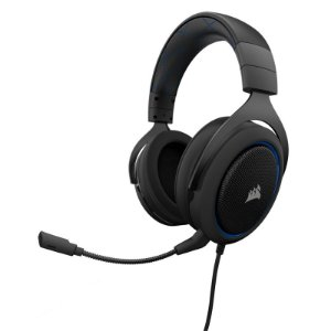 Headset Corsair Raptor HS50 Preto/Azul PC/PS4