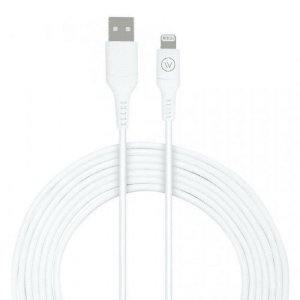Cabo MFi Hard Cable em TPE 2m Branco iWill