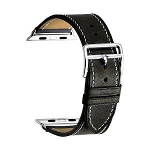 Pulseira para Apple Watch® WatchBand - Couro Preta