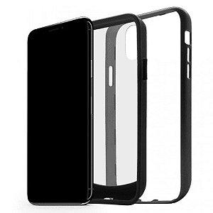 Case Duall Clear para iPhone X Preta