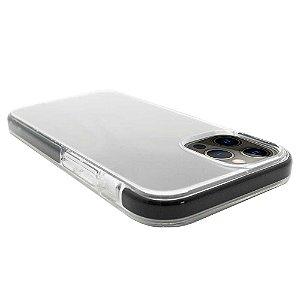 Impact Case para iPhone 12 / 12 Pro Transparente com Preto - Capa Antichoque Dupla
