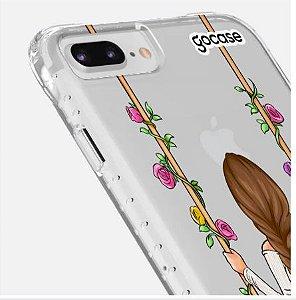 Capinha Impact Slim - Garota Floral - iPhone  7 Plus /8 Plus