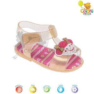 Sandália Bebê Menina com Glitter Pimpolho Colorê