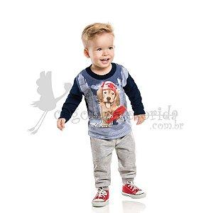 """Camiseta Manga Longa Bebê Menino """"Rolezinho de Skate"""""""