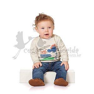 Camiseta Manga Longa Bebê Menino Dinossauros Kiko Baby