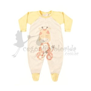 Macacão Manga Longa Bebê Menina Girafinha Kiko Baby
