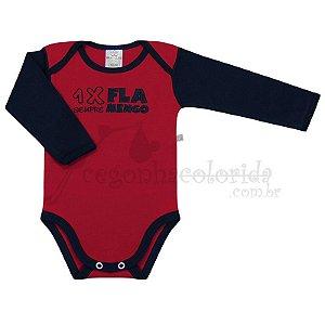 """Body  Bebê Menino Torcida Baby """"1 x Flamengo"""" Best Club"""