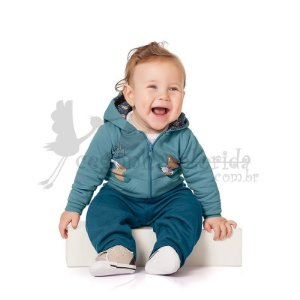 Conjunto Longo Bebê Menino Little Fox Kiko Baby